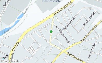 Kartendarstellung der Adresse Hüttenstr.19