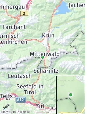 Here Map of Mittenwald