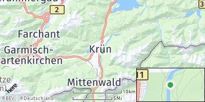 Google Map of Krün