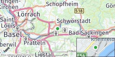 Google Map of Rheinfelden