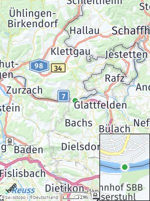 Here Map of Hohentengen am Hochrhein