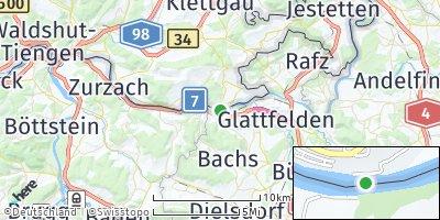 Google Map of Hohentengen am Hochrhein