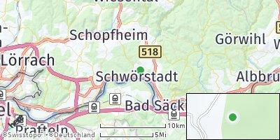 Google Map of Schwörstadt