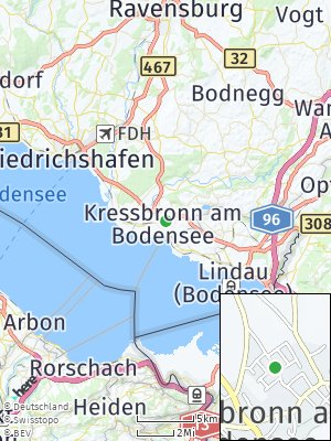 Here Map of Kressbronn am Bodensee