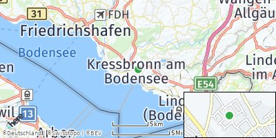 Google Map of Kressbronn am Bodensee