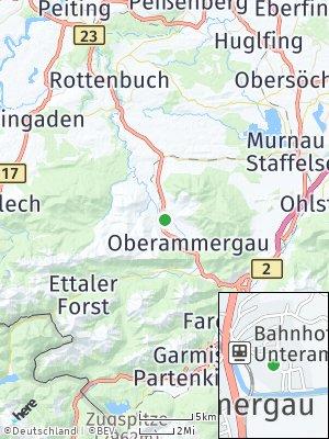 Here Map of Unterammergau