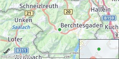 Google Map of Ramsau bei Berchtesgaden