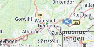 Google Map of Waldshut-Tiengen