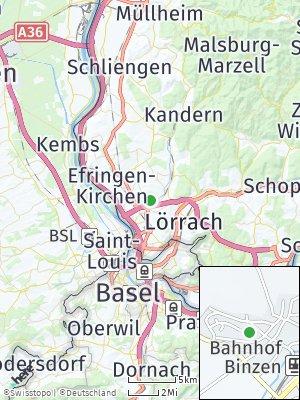 Here Map of Binzen