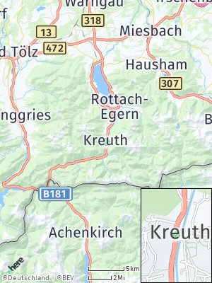 Here Map of Kreuth bei Tegernsee