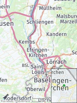 Here Map of Efringen-Kirchen