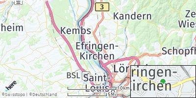 Google Map of Efringen-Kirchen