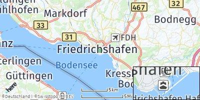 Google Map of Friedrichshafen