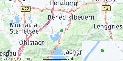 Google Map of Kochel am See