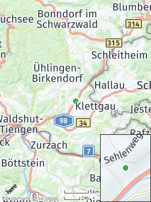 Here Map of Wutöschingen