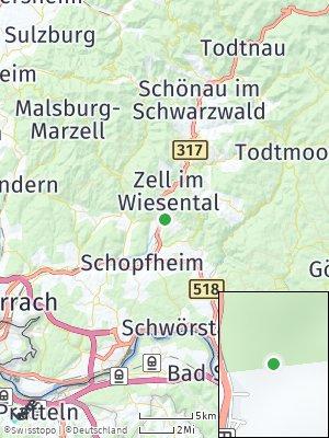 Here Map of Hausen im Wiesental