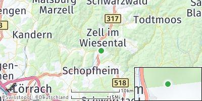 Google Map of Hausen im Wiesental