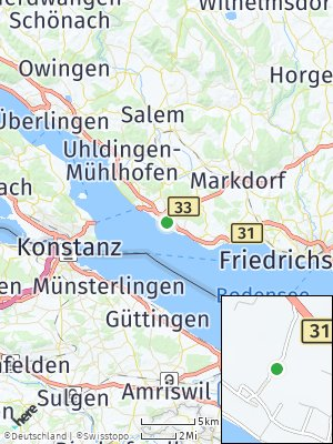 Here Map of Stetten bei Meersburg