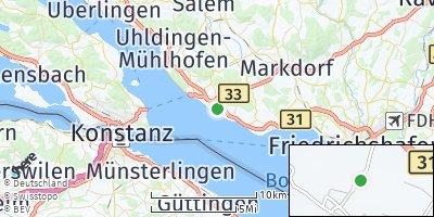 Google Map of Stetten bei Meersburg