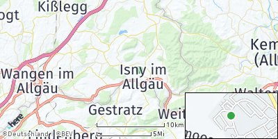 Google Map of Isny im Allgäu