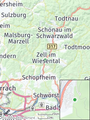 Here Map of Zell im Wiesental