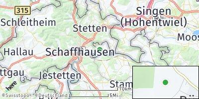 Google Map of Büsingen am Hochrhein