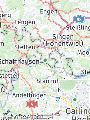 Here Map of Gailingen am Hochrhein