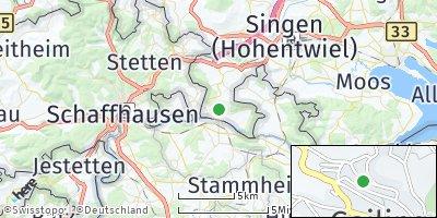 Google Map of Gailingen am Hochrhein