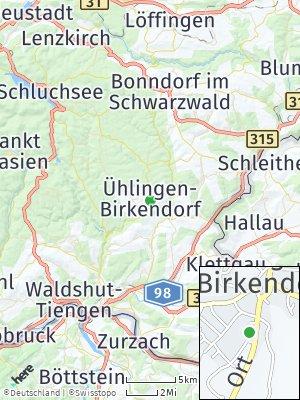Here Map of Ühlingen-Birkendorf