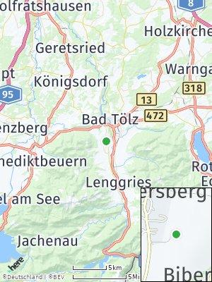 Here Map of Wackersberg bei Bad Tölz