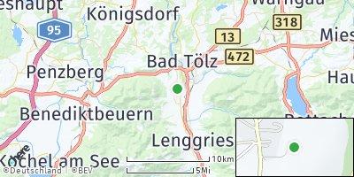 Google Map of Wackersberg bei Bad Tölz