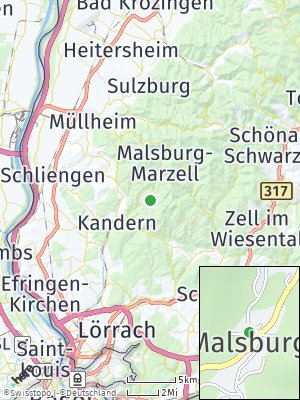 Here Map of Malsburg-Marzell