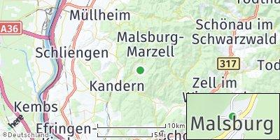 Google Map of Malsburg-Marzell