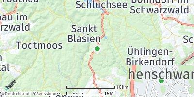 Google Map of Höchenschwand