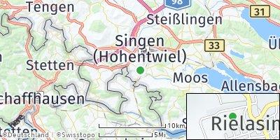 Google Map of Rielasingen-Worblingen
