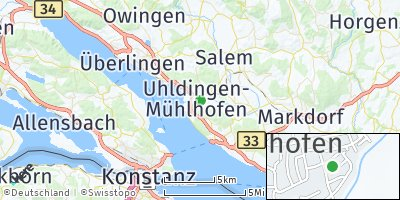 Google Map of Uhldingen-Mühlhofen