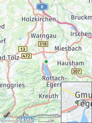 Here Map of Gmund am Tegernsee