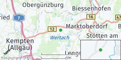 Google Map of Unterthingau