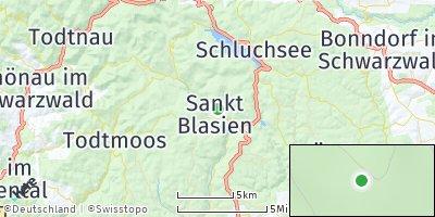 Google Map of Sankt Blasien