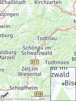 Here Map of Schönau im Schwarzwald