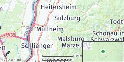 Google Map of Badenweiler