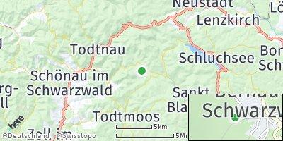 Google Map of Bernau im Schwarzwald