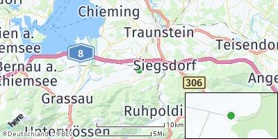 Google Map of Bergen im Chiemgau
