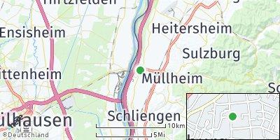 Google Map of Neuenburg am Rhein