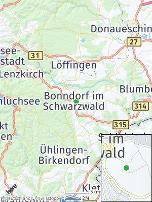 Here Map of Bonndorf im Schwarzwald