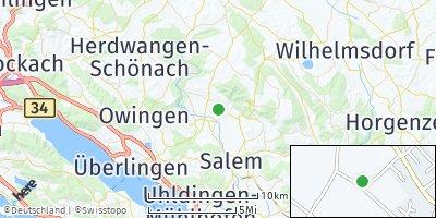 Google Map of Frickingen