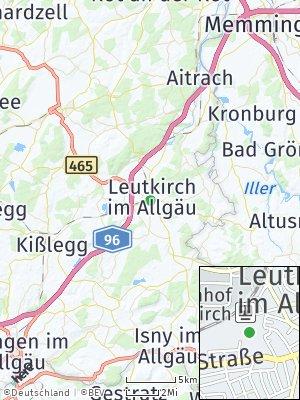 Here Map of Leutkirch im Allgäu
