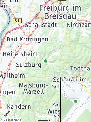 Here Map of Münstertal / Schwarzwald