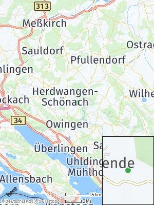 Here Map of Herdwangen-Schönach