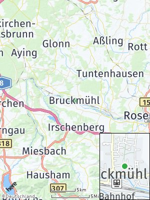 Here Map of Bruckmühl